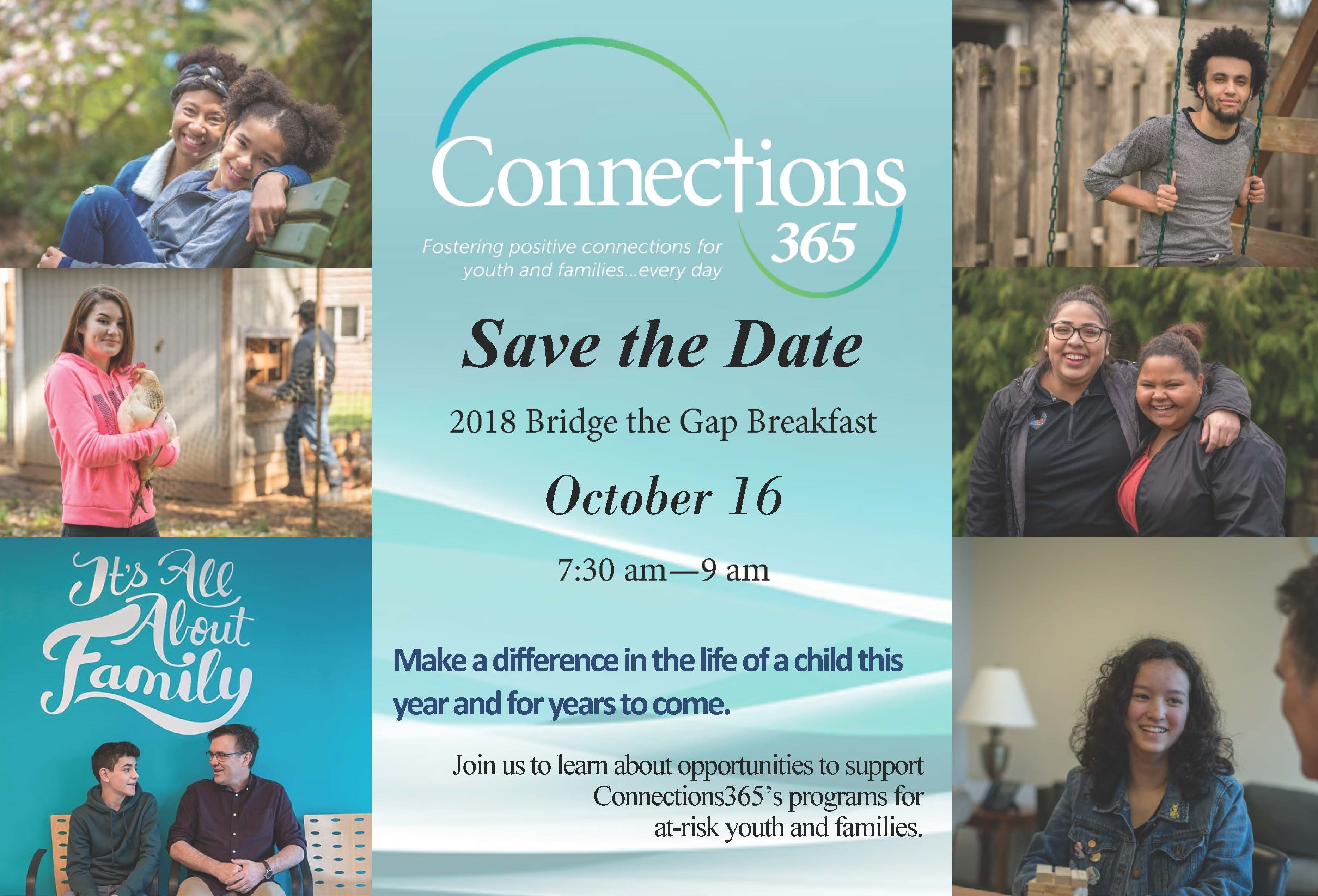 bridge the gap breakfast 2018 connections 365